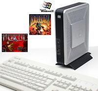 ALTE DOS SPIELE PC COMPUTER HEWLETT PACKARD HP T5720 WINDOWS 98 DOOM HERETIC OK