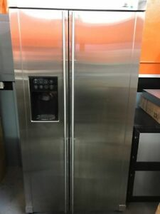 Ge Monogram Stainless Steel Side By Side Refrigerator