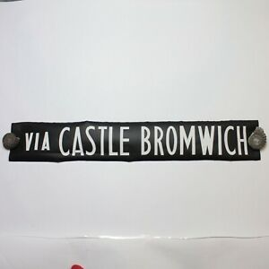 Castle-Bromwich-bus-blind-destination-vintage-1975-screen-printed-linen-Midland
