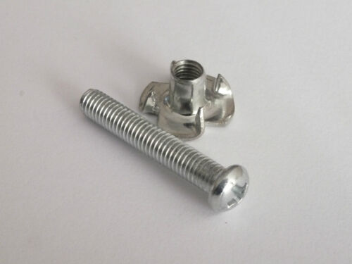 4  CHROME fixing BOLTS /& Captive NUTS for AMPLIFIER HANDLE