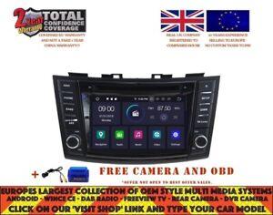 Details about RADIO DVD GPS NAVI ANDROID 9 0 4GB DAB BT SUZUKI SWIFT  2011-15 ERTIGA RV5796