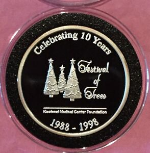 Kootenai Medical Center Festival Of Trees 1 Troy Oz .999 Fine Silver Round Coin