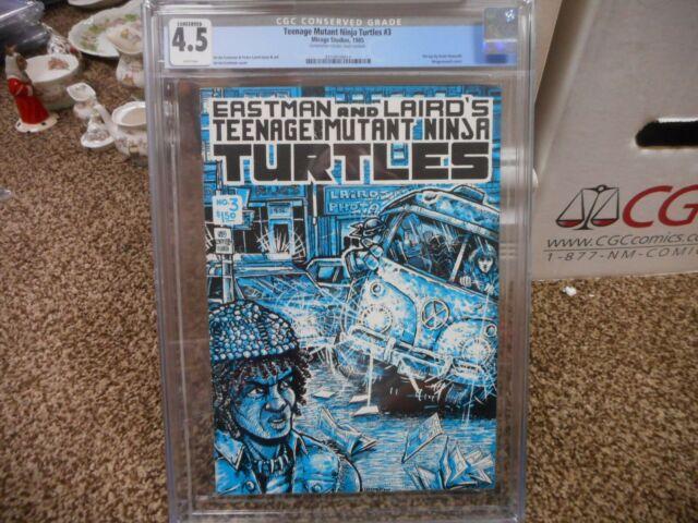 Teenage Mutant Ninja Turtles 3 cgc 4.5 CONSERVED GRADE Mirage 1985 1st print WHT