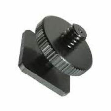 1/4 Inch Single Tripod Mount Screw To Flash Camera Hot Shoe Adapter UK Seller