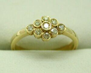 Beautiful-Vintage-18-carat-Gold-9-Stone-Diamond-Cluster-Ring-Size-M-1-2