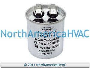 NEW-Motor-Round-Single-Run-Capacitor-10-MFD-370-440-VAC-Volt-Supco-CR10x370R