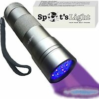 Uv Blacklight Flashlight 12 Led For Pet Urine Stain Detector On Carpets & Walls