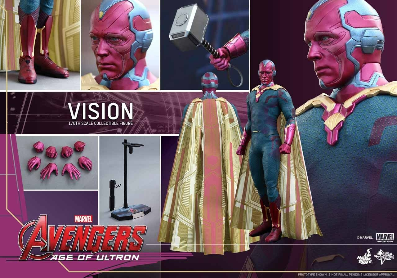 1 6 Hot Toys Marvel Avengers Age of Ultron MMS296 vision 12  figure BRAND NEW