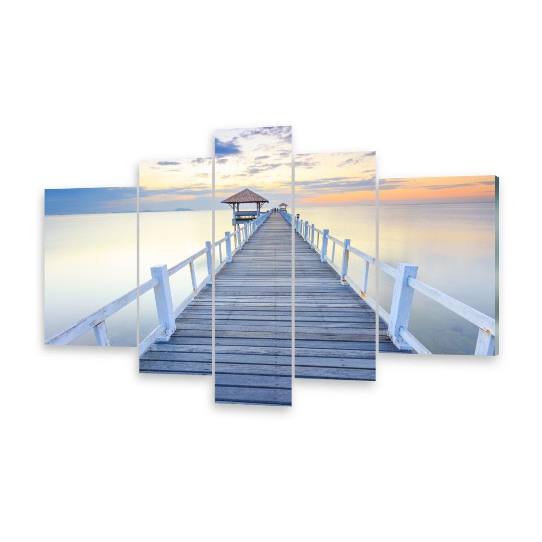 Mehrteilige Bilder Glasbilder Wandbild Pier Meer