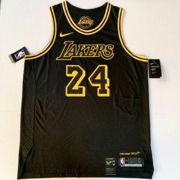 Nike Kobe Bryant Lore Jersey Los Angeles Lakers Authentic Black ...