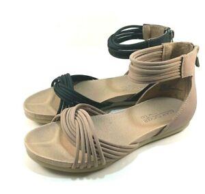 50% price united states designer fashion Adam Tucker by Me Too Serene8 Leather Strappy Gladiator Sandal ...