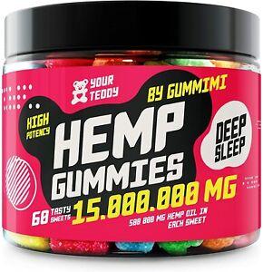 H*mp Gummy Bears - Pain, Anxiety, Sleep, Stress Relief 15000000 MG 100% Organic