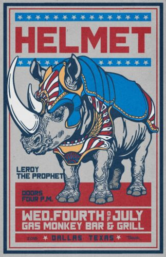 Helmet  Concert Poster
