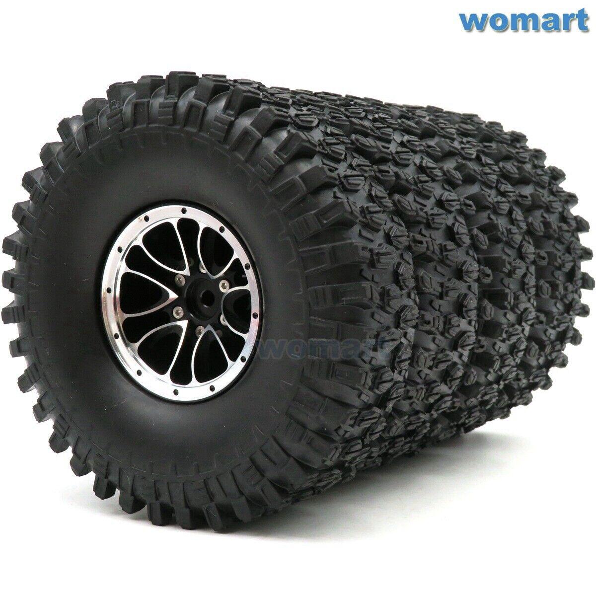 4 un. Radio Control 1.9 Super Swamper Crawler Neumáticos Neumático 120mm & alumbre 1.9 mm RUEDA LLANTA
