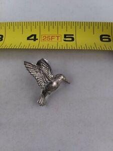 Vintage Hummingbird pin button pinback brooch *A