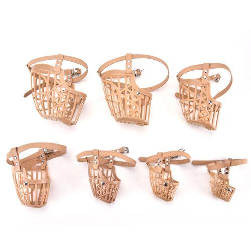 Plastic Dogs Muzzle Basket Design 7 Sizes Anti-biting Adjusting Straps MaskVE