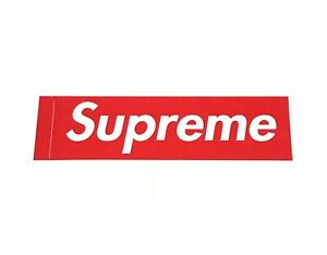 SupremeRed Box Logo Sticker 100/% Authentic