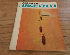 1969 Asi Es La Argentina 1968 Aerolinas Argentinas Avianca Airline Book Postcard
