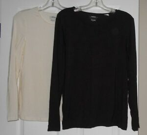 Zenergy-by-Chico-039-s-Round-Neck-L-S-Knit-Top-Brown-or-Cream-Asst-Sizes-NWOT