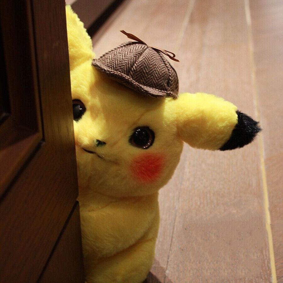 Presale 2019 Pokemon Center Movie Detective Pikachu Soft Plush Toy Figure Gifts 3