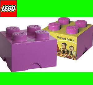 Box-Scatola-LEGO-Conservazione-Rosa-Medio-4-Contenitore-Mattoncino-2x2-XL-Box