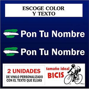 2x customizable stickers flag of Asturias with name vinyl bike bike