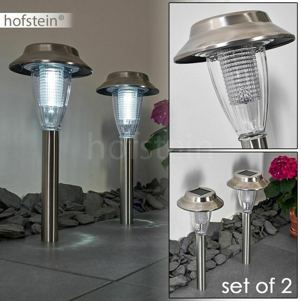 2er Set LED Solar Außen Lampen Hund Figur Lampen Laternen Balkon Beleuchtung