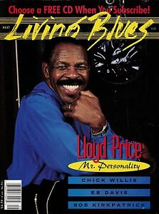 LIVING BLUES MAGAZINE NUMBER 147 SEPT-OCT 1999 LLOYD PRICE CHICK WILLIS EB DAVIS