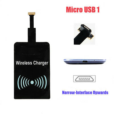 Universal QI Wireless Charging Charger Receiver Module for Micro-USB Cell Phone