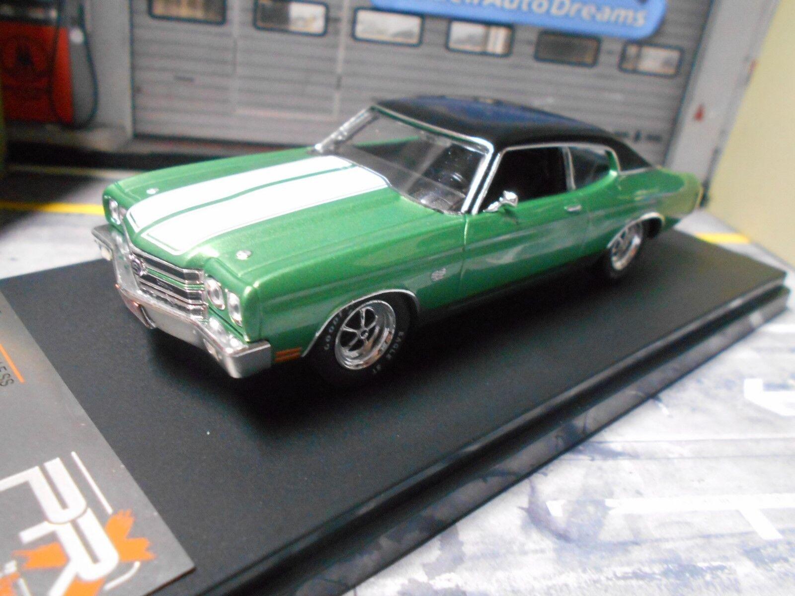 Chevrolet Chevelle SS Coupe 1970 v8 muscle verde verde verde verde met Ixo Premiumx 1 43 b4ac16