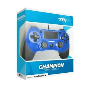 TTX-Champion-PS4-Wired-USB-Controller-for-PlayStation-4-BLUE
