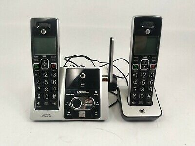At T Cl 82213 2 Handset Answering System With Caller Id Ebay
