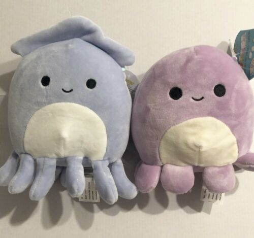 Kellytoy Squishmallows Stacey The Squid /& Violet The Octopus Mini Plush Set