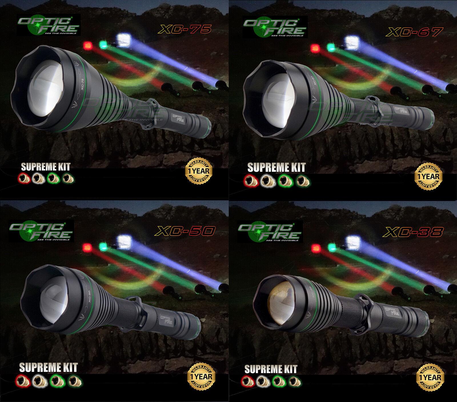 Opticfire® XC 4 LED Supreme high power hunting torch lamping lamp NV light kit