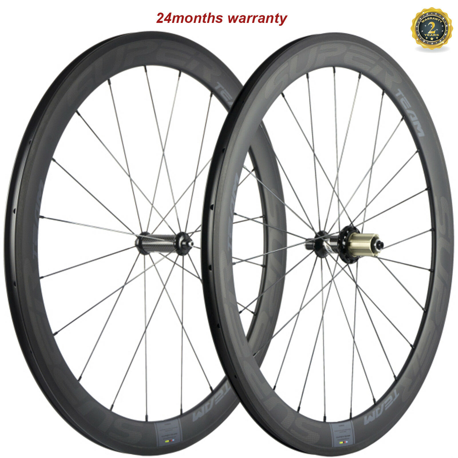 SUPERTEAM 700C Carbon Wheels 50mm Clincher Ceramic R36 Road Bicycle Wheelset