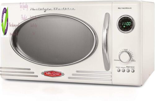 Nostaia Rmo4Ivy Retro 0.9 Cubic Foot 800-Watt Countertop Microwave Oven 5 Power