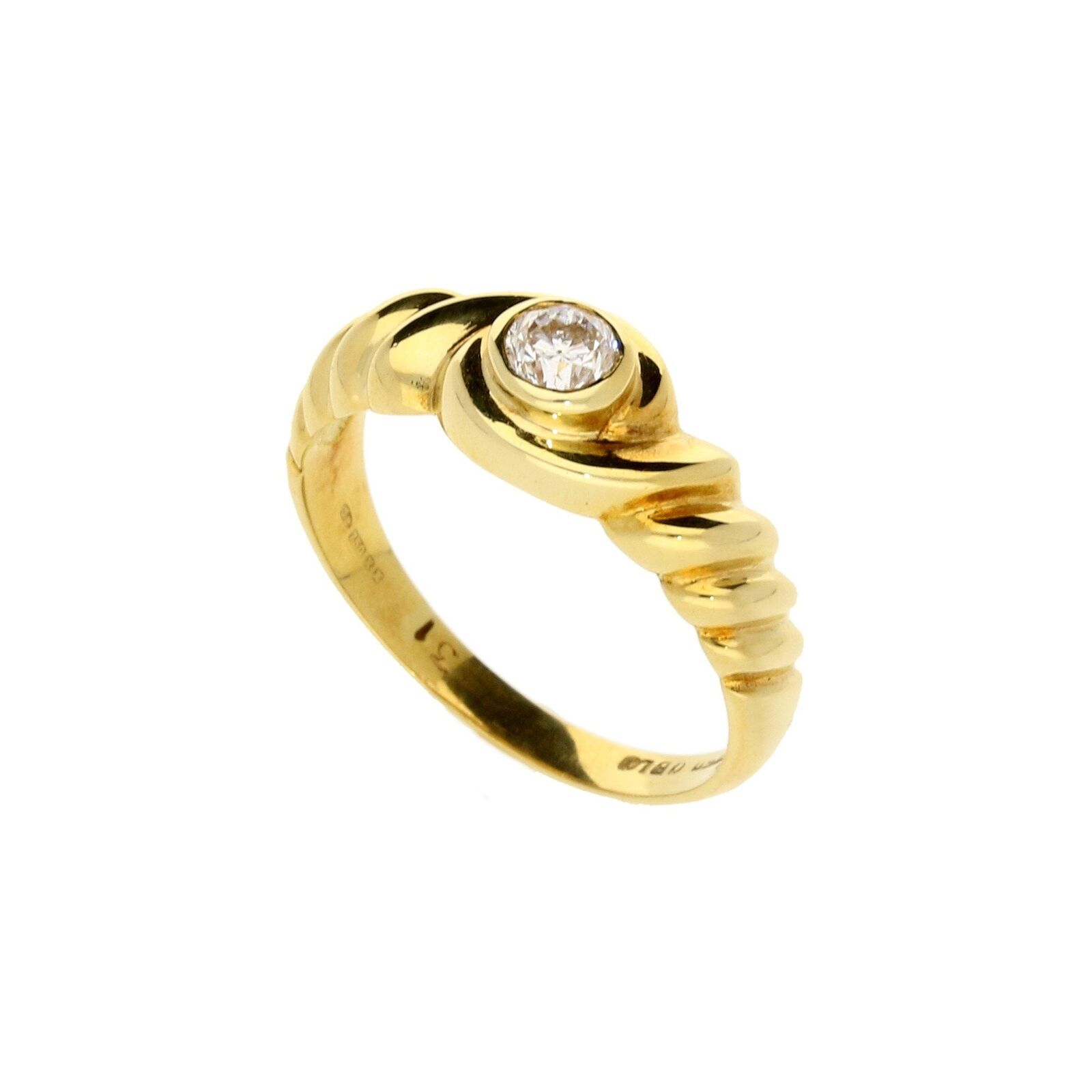 18ct Yellow gold 0.31ct Diamond Engagement Ring