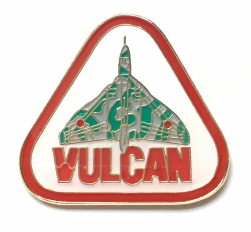 RAF Royal Air Force Vulcan Bomber Triangular Pin Badge Official Product