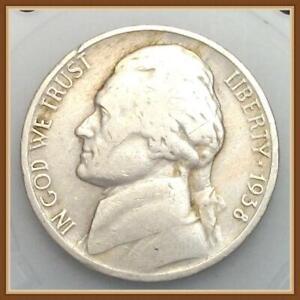 "1950 P Jefferson Nickel Average Circulation /""Stock Photo/"""