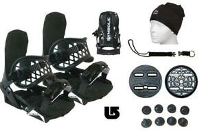 Symbolic-Flow-Ride-Snowboard-Bindings-Leash-Hat-Burton-3D-Fit-Women-Boots-5-7-BL