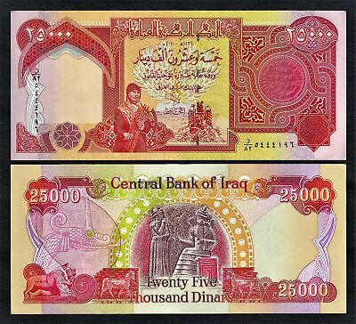 Iraq New Iraqi 25000 25 000 Dinar