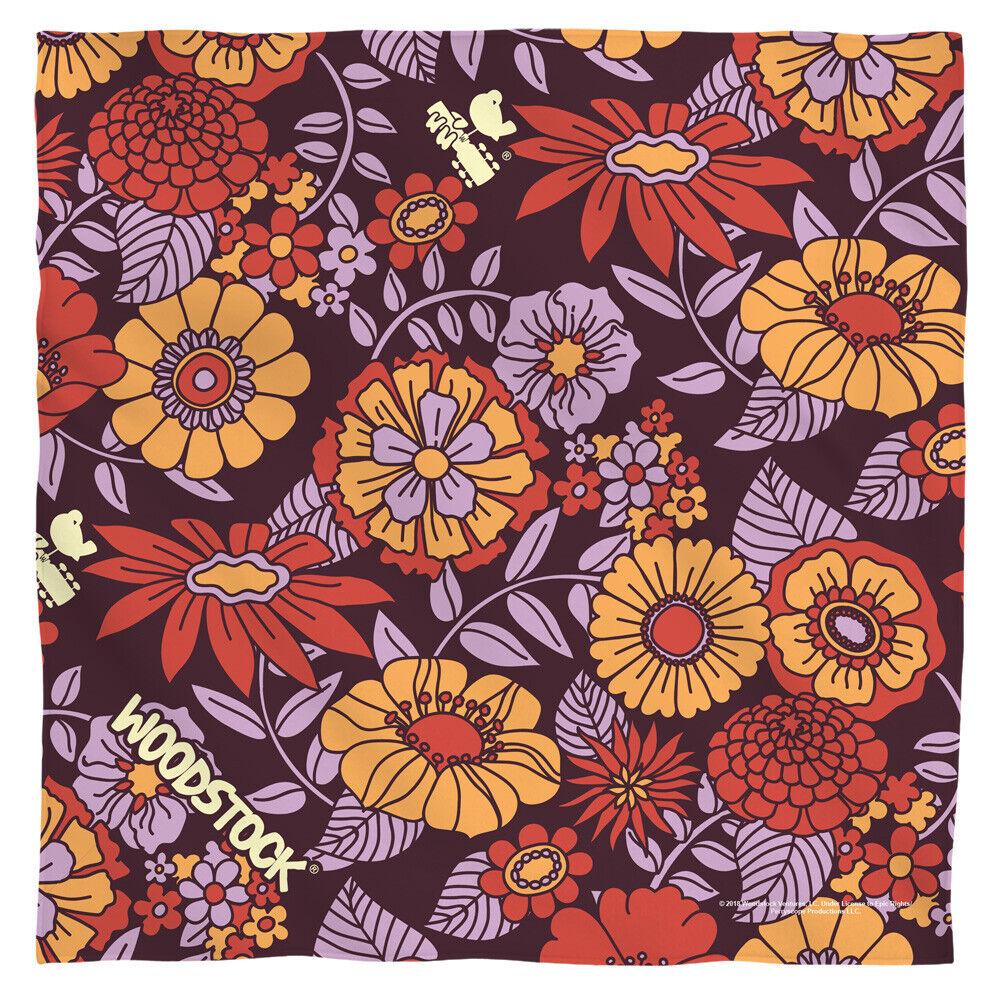 Bandana - Woodstock Guitar Neck Bird Flower Set (22x22 inch) (mask)
