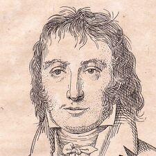 Portrait XIXe Benjamin Constant Suisse Lausanne Libéralisme 1823