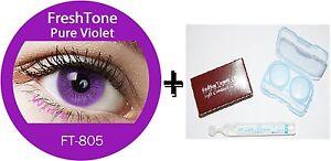Contact-Lenses-Colored-FRESHTONE-Pure-Violet-Case-AVIZOR-solution-10-ML