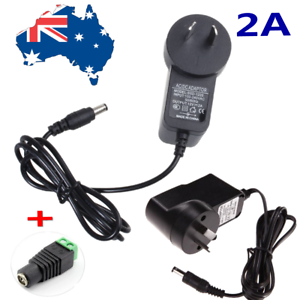 AC-110V-240V-To-DC12V-2A-AU-Plug-Power-Supply-Charger-Transformer-For-LED-Strips