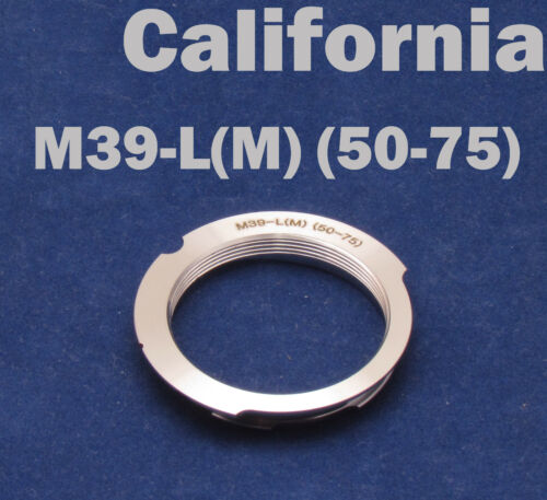 M39 LSM LTM 50-75mm Lens to Leica M Mount M9 M8 M7 M6 M5 M4 M3 MP 50mm-75mm
