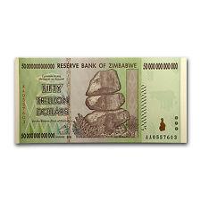 2008 Zimbabwe 50 Trillion Dollar Note - Crisp Uncirculated - SKU #51262