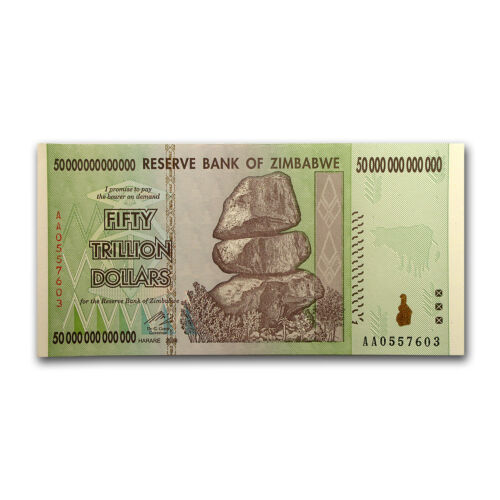 2008 Zimbabwe 50 Trillion Dollar Note - Crisp Uncirculated - SKU #51262