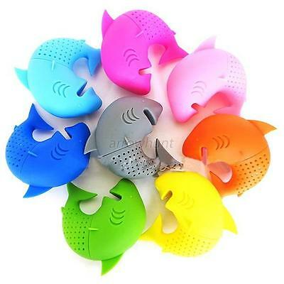 Cute Silicone Shark Infuser Loose Tea Leaf Strainer Herbal Spice Filter Diffuser