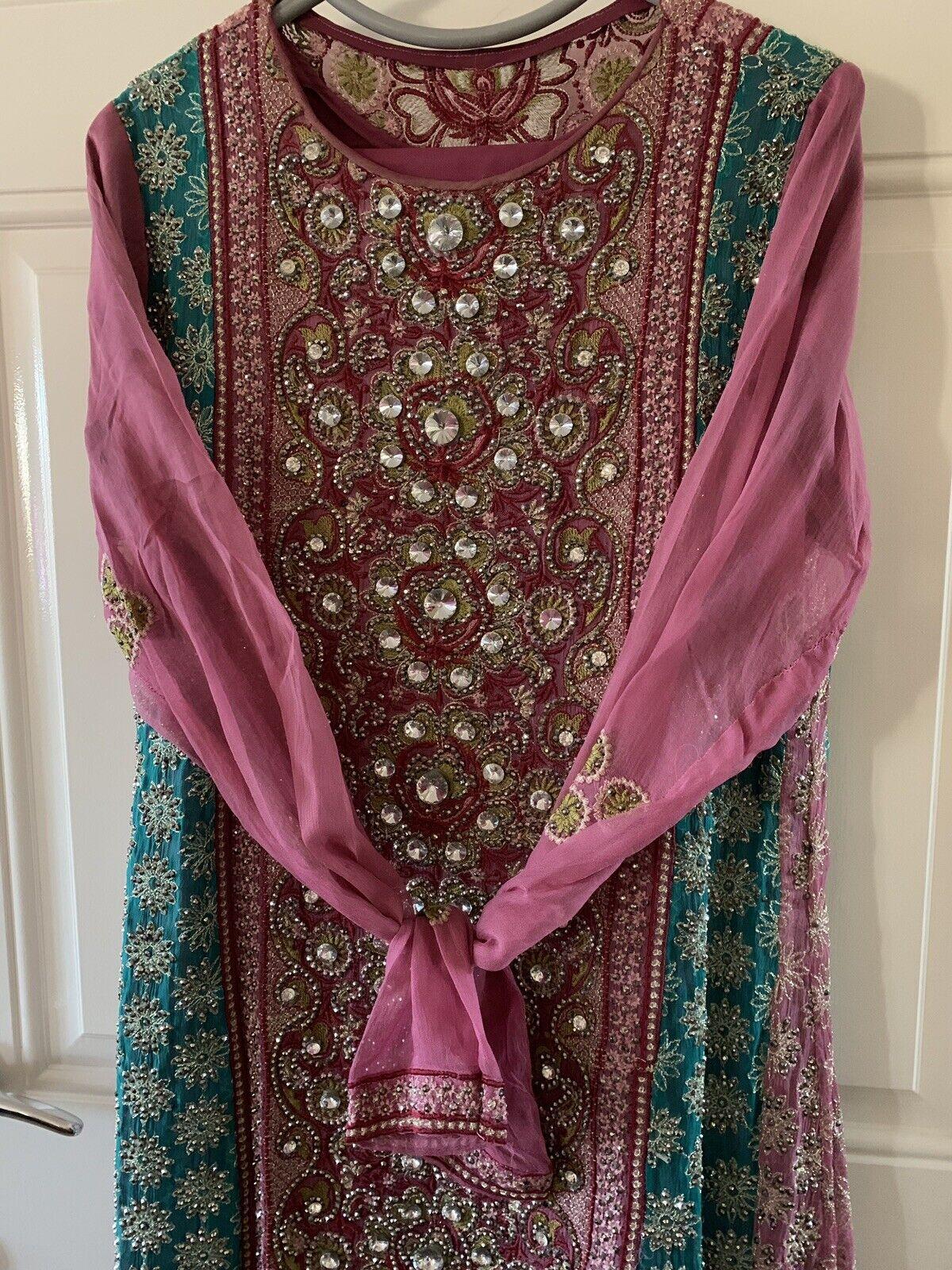 Ladies Asian Stunning 3 Piece Piece Piece Long Maxi Dress Style Size Dress 14 431551